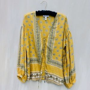 WILLIAM RASTBOHO  PEASANT TOP BELL SLEEVES MED